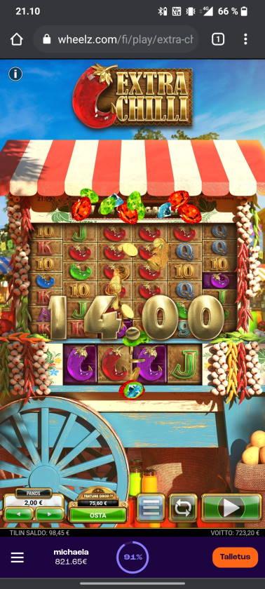 Extra Chilli Casino win picture by tiikerililja87 15.6.2021 723.20e 362X Wheelz