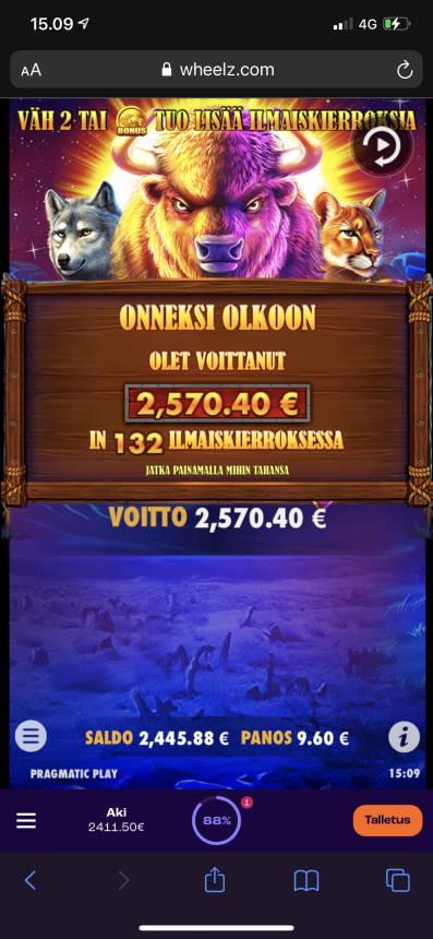 Buffalo King Casino win picture by aki_2772 24.7.2021 2570.40e 268X Wheelz