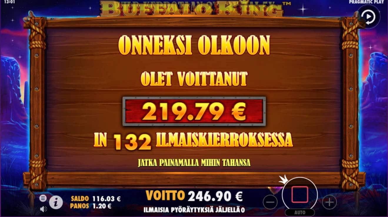 Buffalo King Megaways Casino win picture by tiikerililja87 21.6.2021 219.79e 183X Wheelz