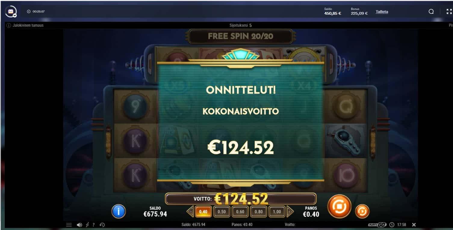 Coils of Cash Casino win picture by Mrmork666 29.6.2021 124.52e 311X