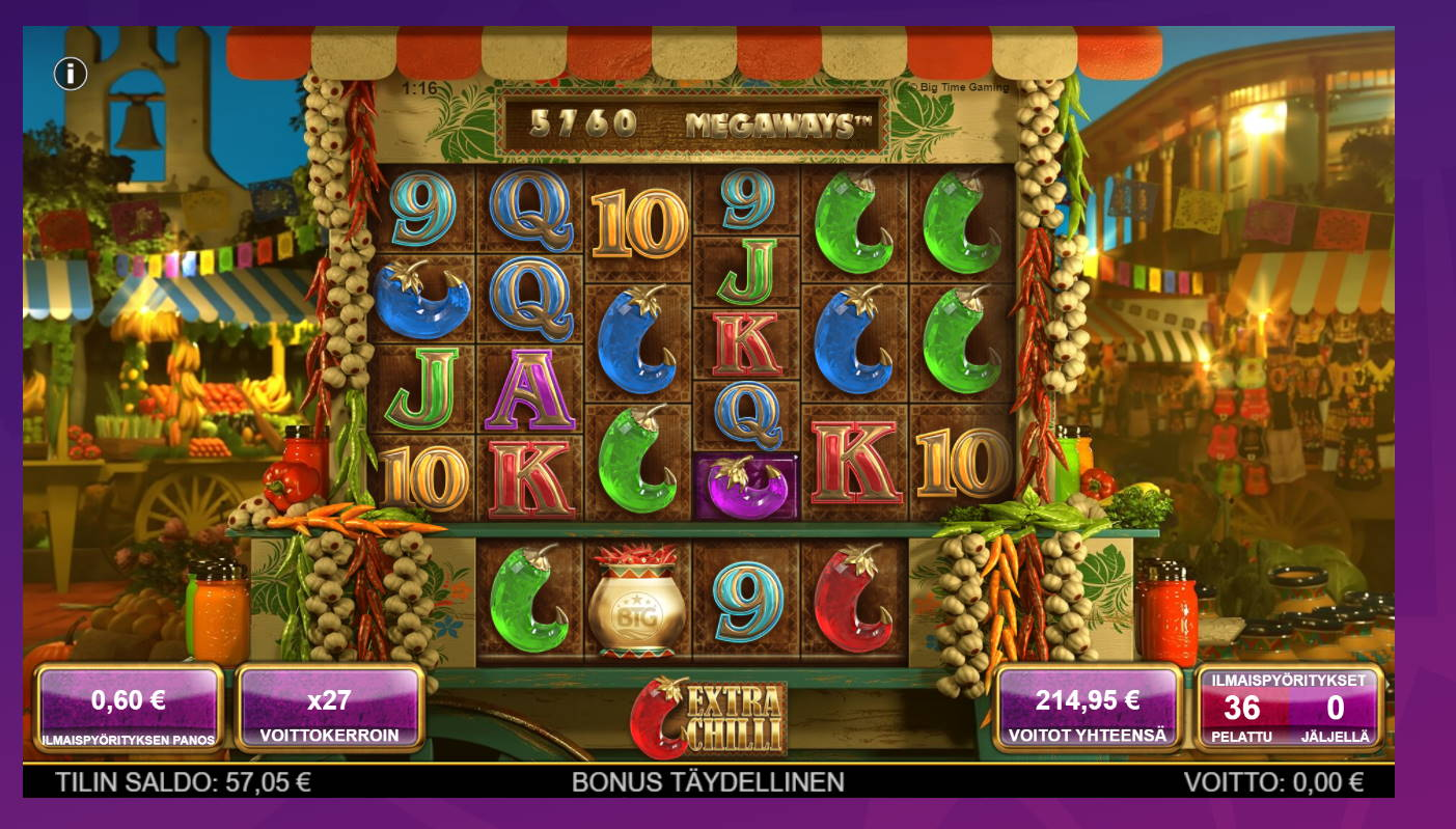 Extra Chilli Casino win picture by Banhamm 18.6.2021 214.95e 358X Wheelz