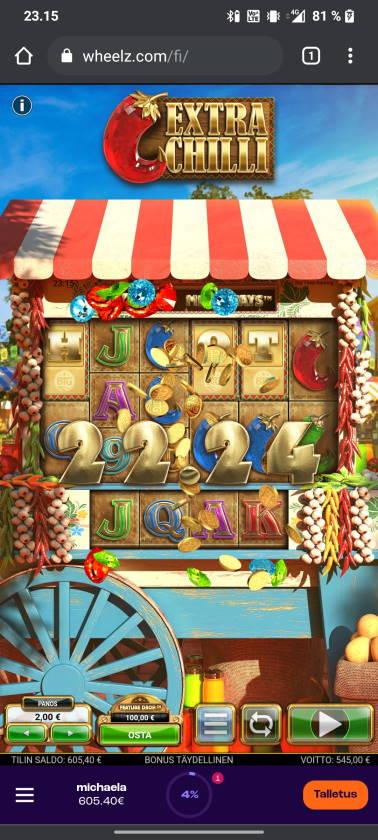Extra Chilli Casino win picture by tiikerililja87 23.6.2021 545e 273X Wheelz