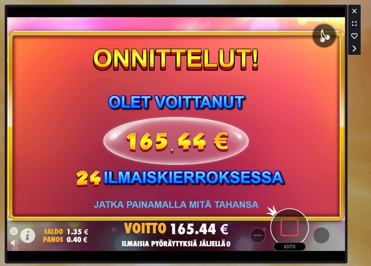 Extra Juicy Casino win picture by Banhamm 18.6.2021 165.44e 414X