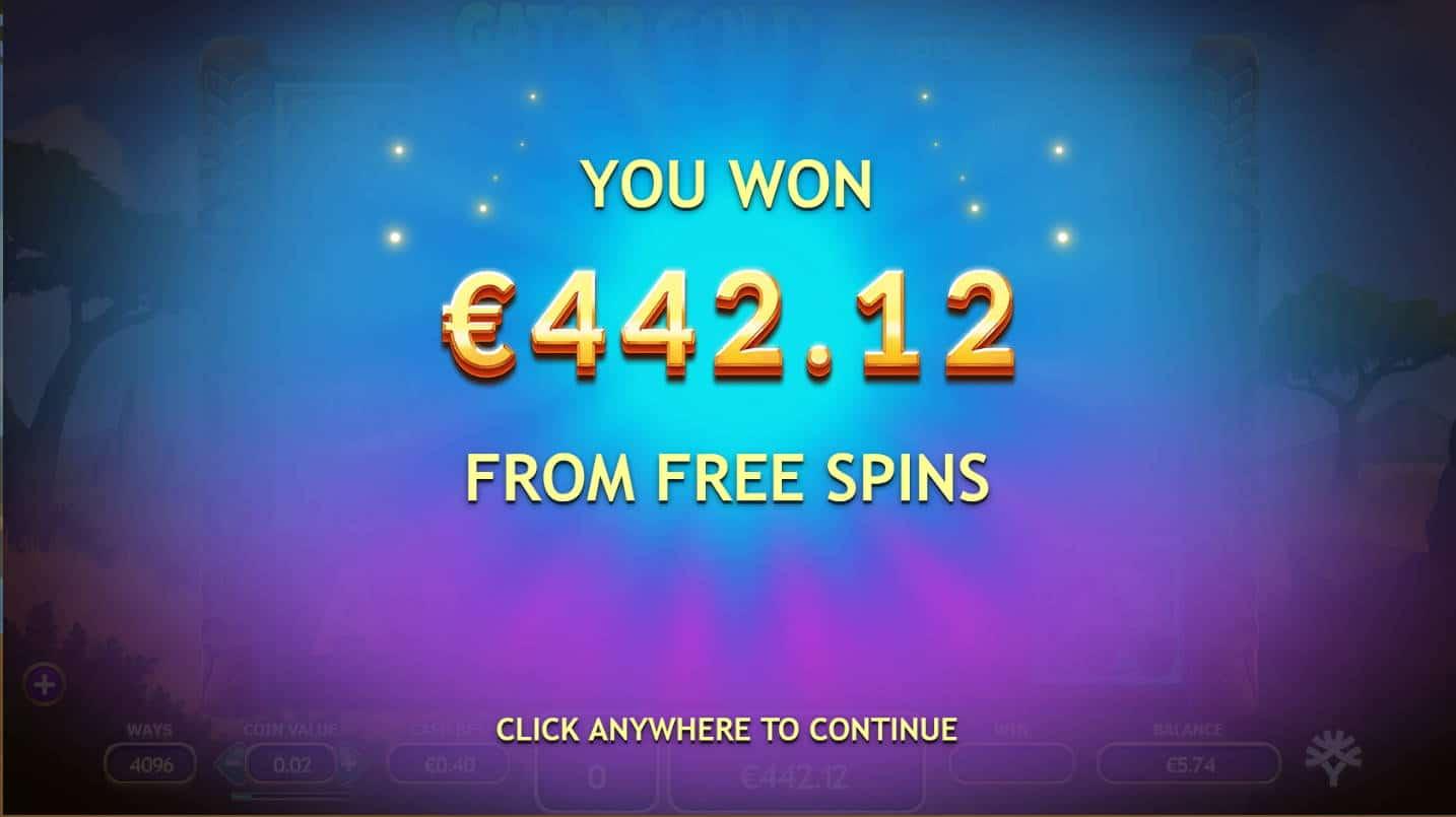 Gator Gold Casino win picture by Kari Grandi 2.7.2021 442.12e 1105X