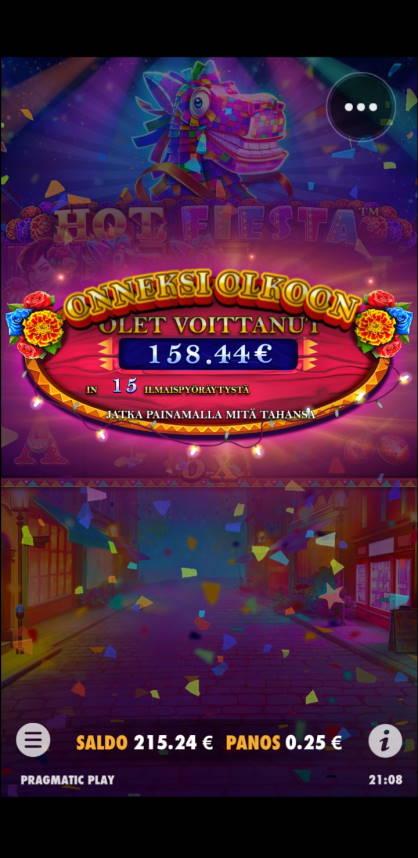 Hot Fiesta Casino win picture by rumakunsaapas 10.7.2021 158.44e 634X