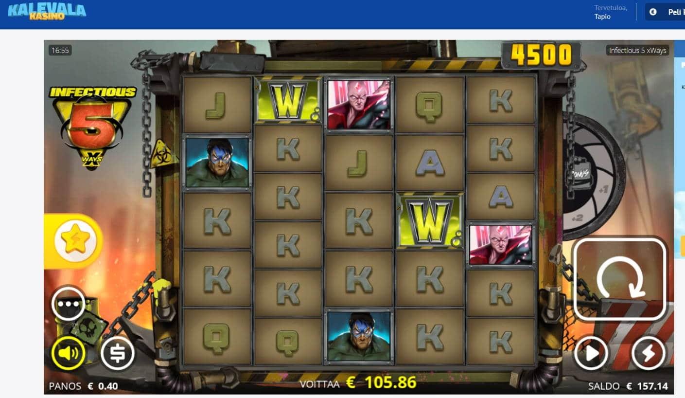 Infectious 5 Casino win picture by Mrmork666 29.6.2021 105.86e 265X Kalevala Kasino