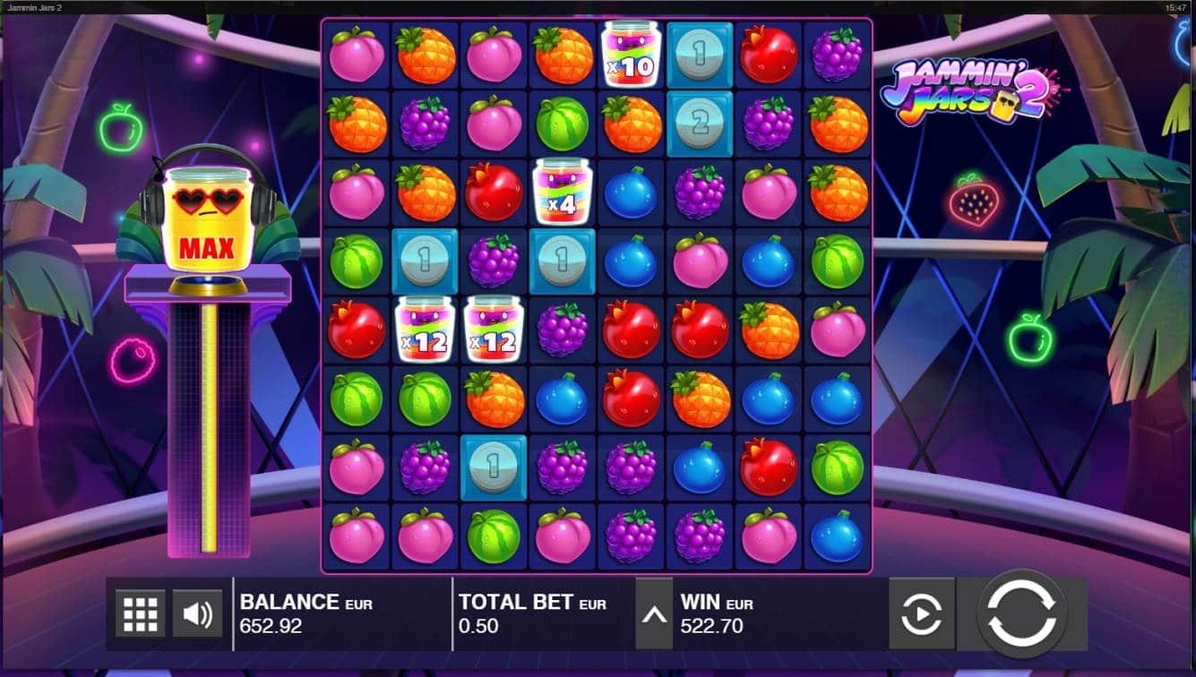 Jamming Jars 2 Casino win picture by jube 29.6.2021 522.70e 1045X