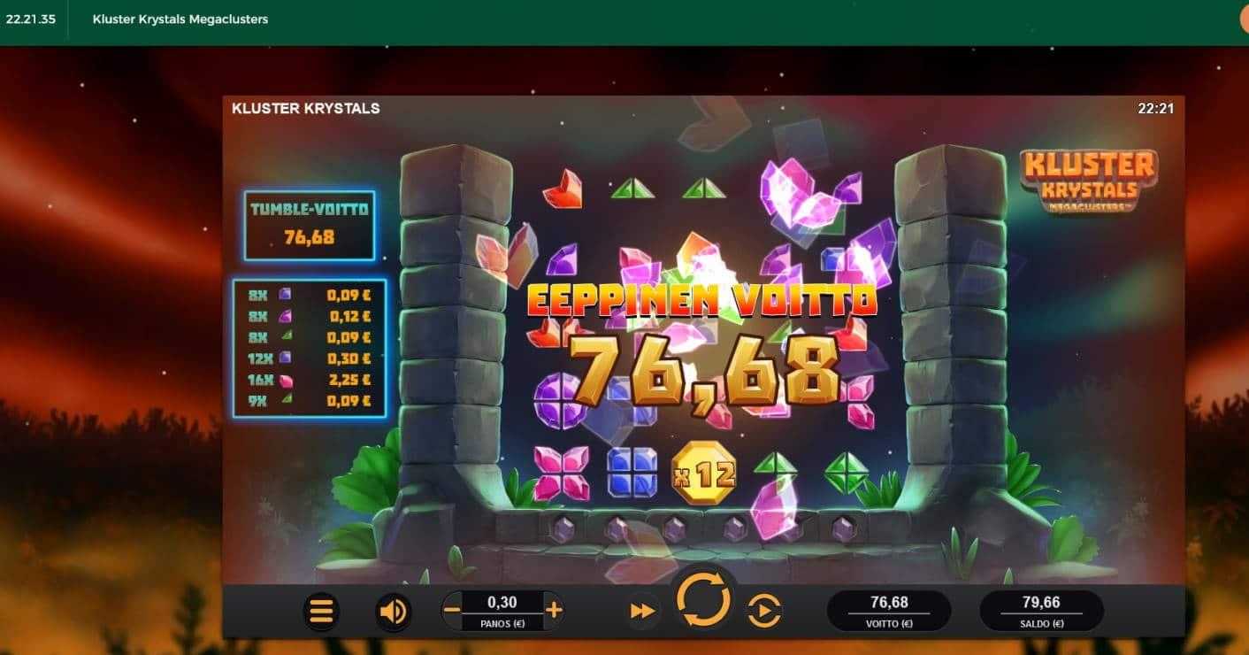 Kluster Krystals Casino win picture by Mrmork666 29.6.2021 76.68e 256X