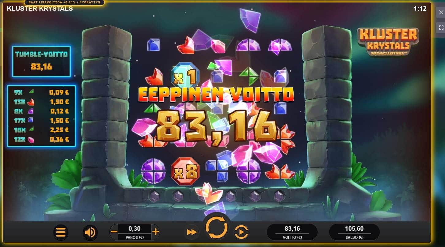 Kluster Krystals Casino win picture by Mrmork666 29.6.2021 83.16e 277X