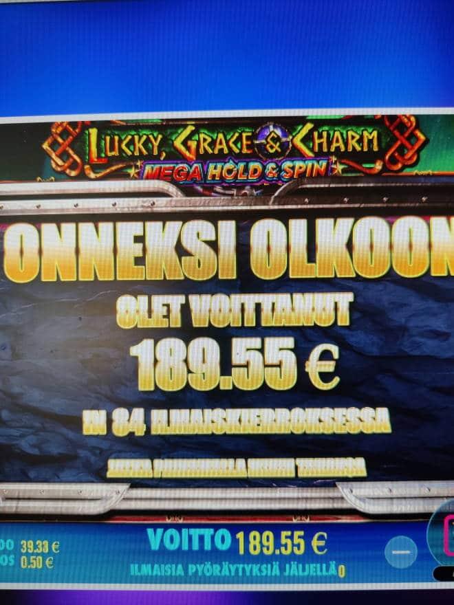 Lucky Grace & Charm Casino win picture by stenbergmiika 21.7.2021 189.55e 379X