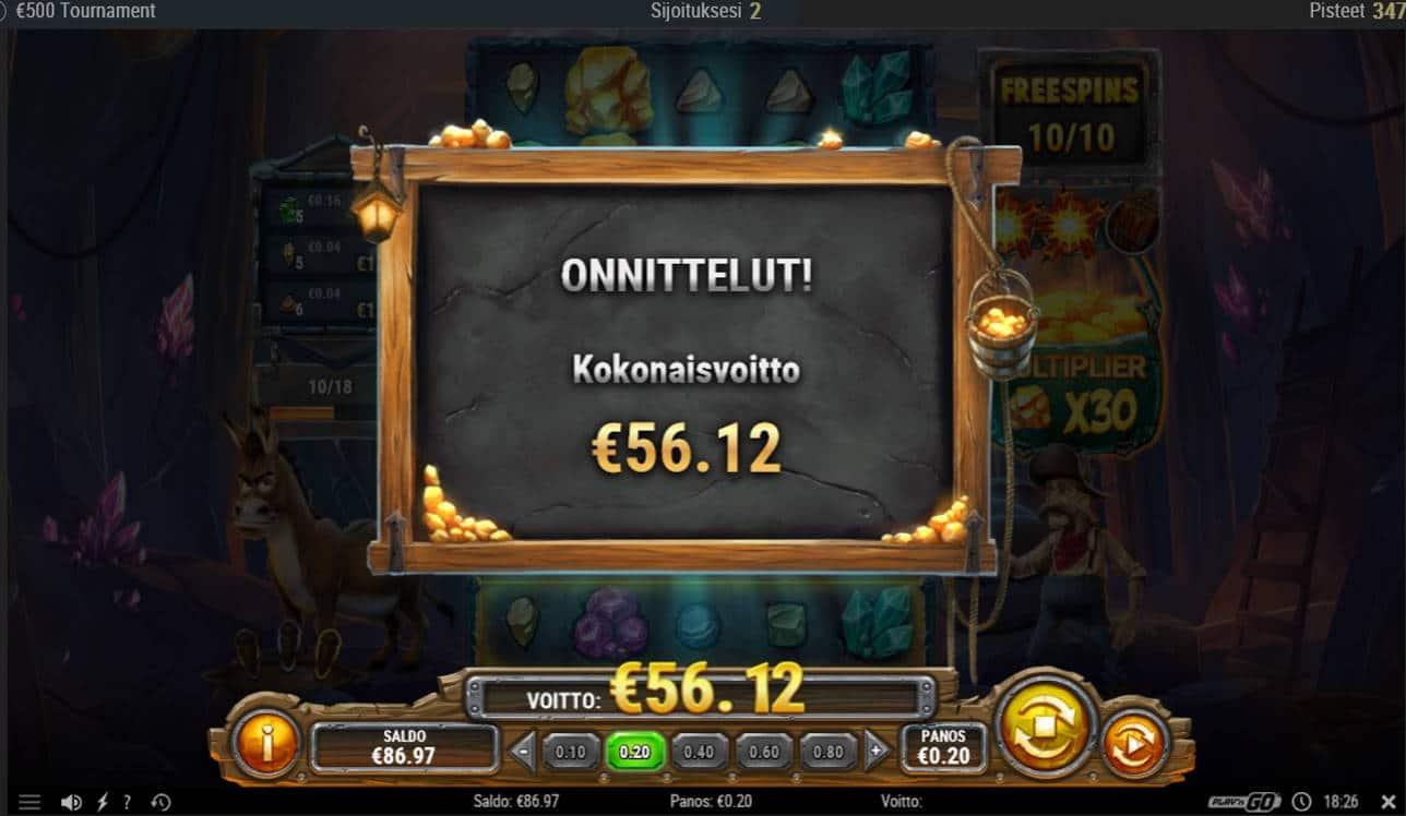 Miner Donkey Trouble Casino win picture by Mrmork666 29.6.2021 56.12e 281X iBet