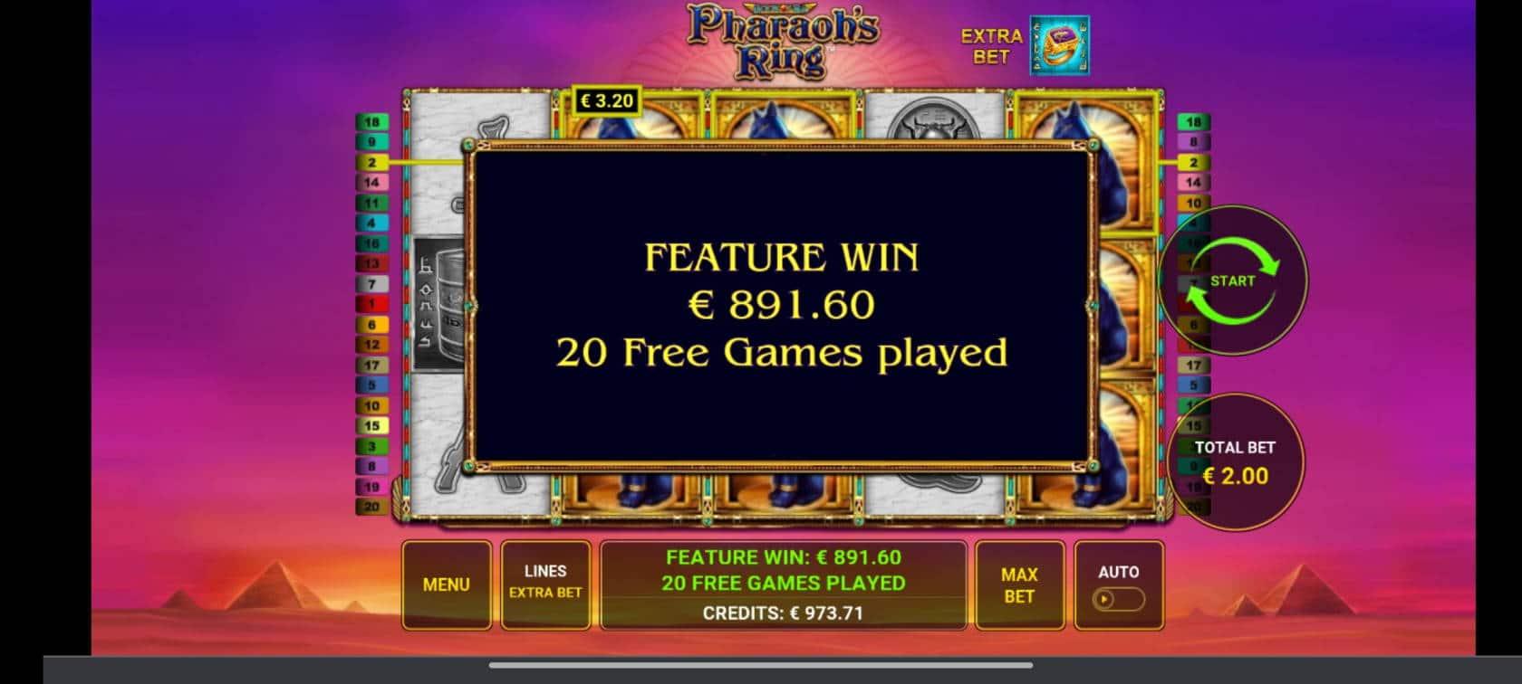 Pharaohs Ring Casino win picture by tiikerililja87 19.6.2021 891.60e 446X