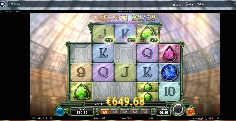 Prism of Gems Casino win picture by Mrmork666 27.6.2021 649.68e 1624X Casumo