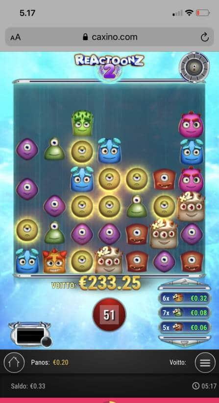 Reactoonz 2 Casino win picture by wapexi 14.7.2021 233.25e 1166X Caxino