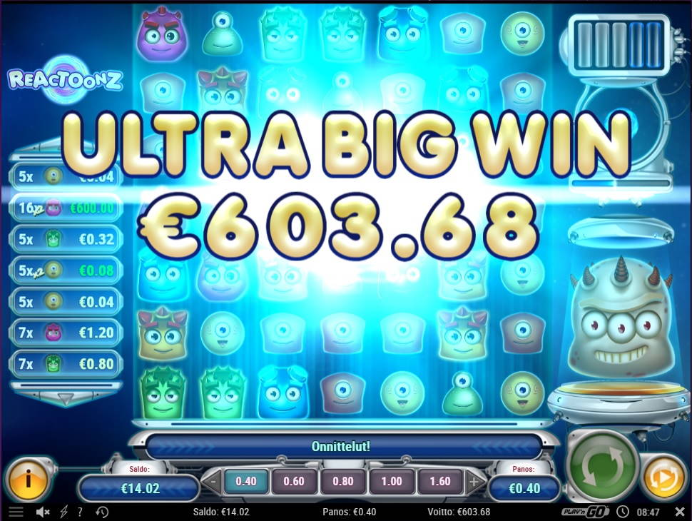 Reactoonz Casino win picture by fujilwyn 1.6.2021 603.68e 1509X