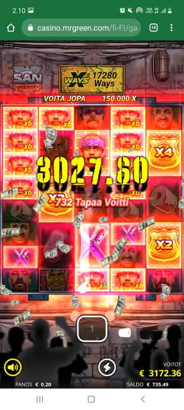 San Quentin Casino win picture by SJaN 22.6.2021 3172.36e 15862X MrGreen
