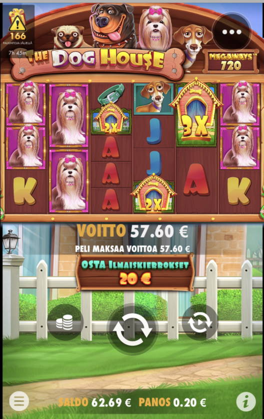 The Dog House Megaways Casino win picture by leif991 25.6.2021 57.60e 288X