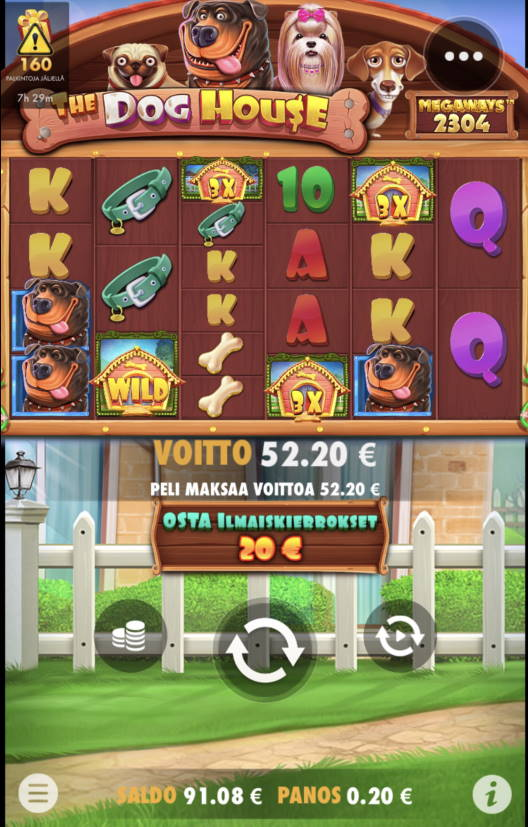 The Dog House Megaways Casino win picture by leif991 25.6.2021 52.20e 261X