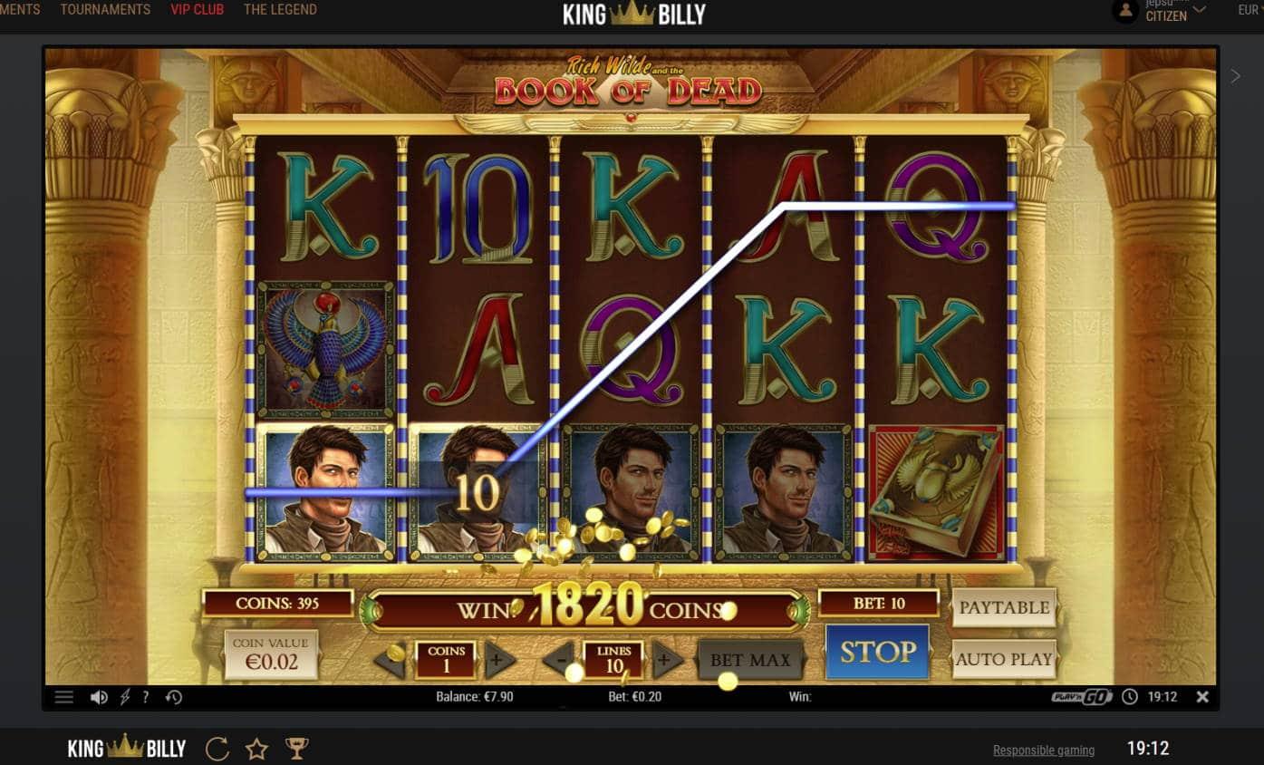 Book of Dead Casino win picture by Banhamm 19.8.2021 100e 500X