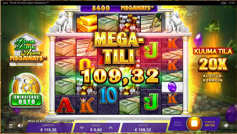 Break da Bank Again Megaways Casino win picture by Kari Grandi 12.8.2021 109.32e 182X