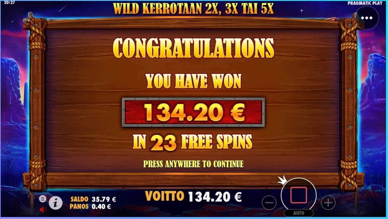 Buffalo King Casino win picture by dj_niemi 20.8.2021 134.20e 336X
