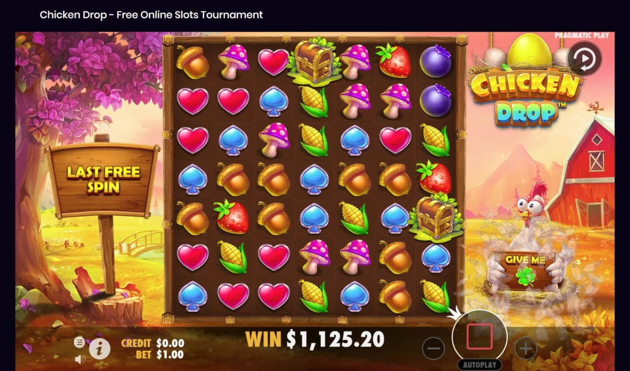 Chicken Drop Casino win picture by Banhamm 30.7.2021 1125.20e 1125X