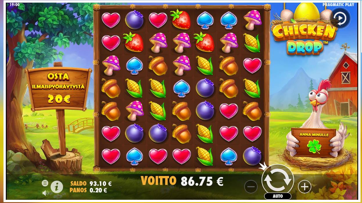 Chicken Drop Casino win picture by FartyPantZ 29.7.2021 86.75e 434X Betsson