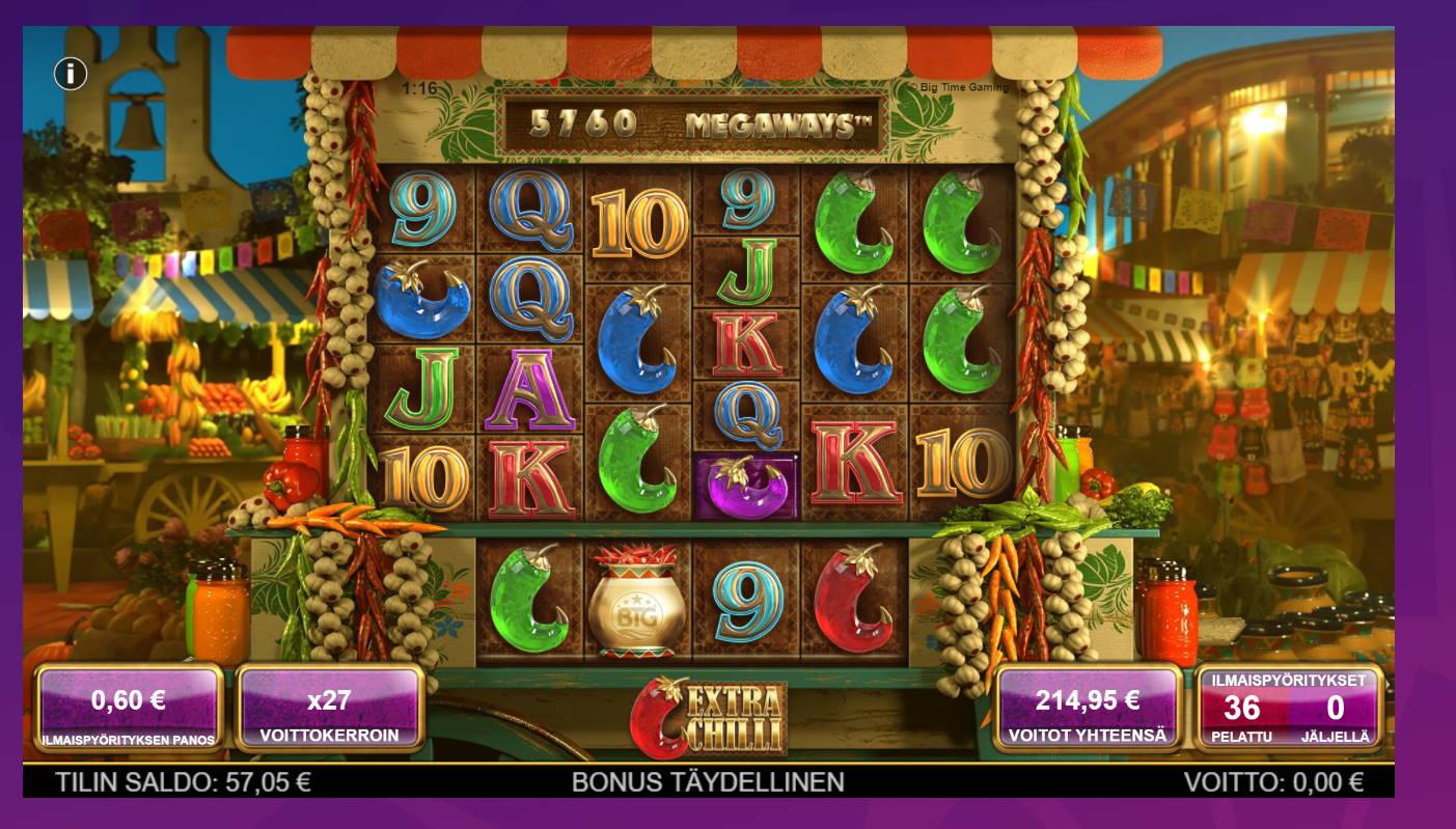 Extra Chilli Casino win picture by Banhamm 1.8.2021 214.95e 358X Wheelz