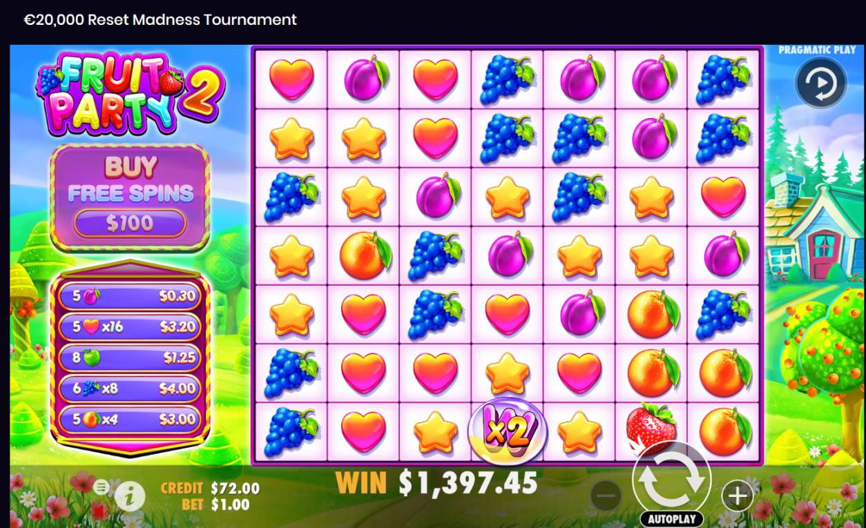 Fruit Part 2 Casino win picture by Kari Grandi 7.8.2021 1397.45e 1397X
