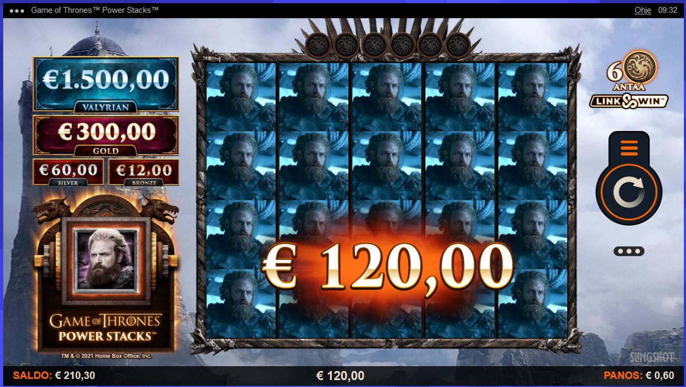 Game of Thrones Power Stacks Casino win picture by Kari Grandi 18.82021 120e 200X