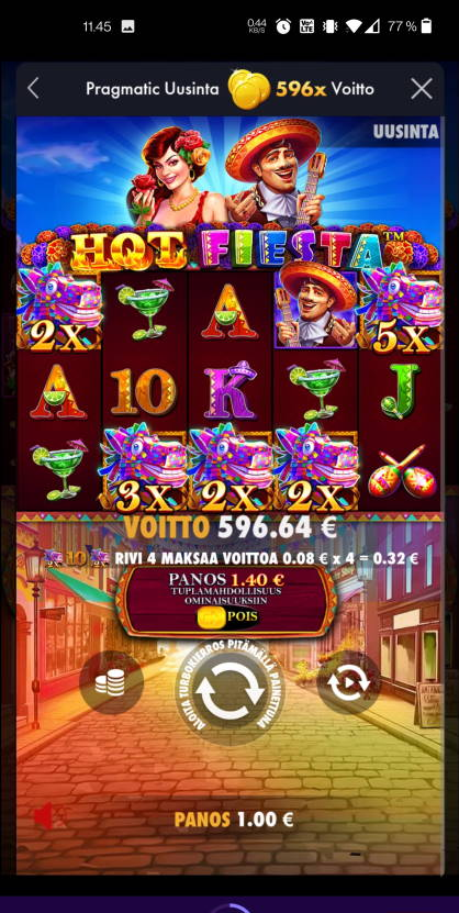 Hot Fiesta Casino win picture by Salatheel 10.8.2021 596.64e 597X