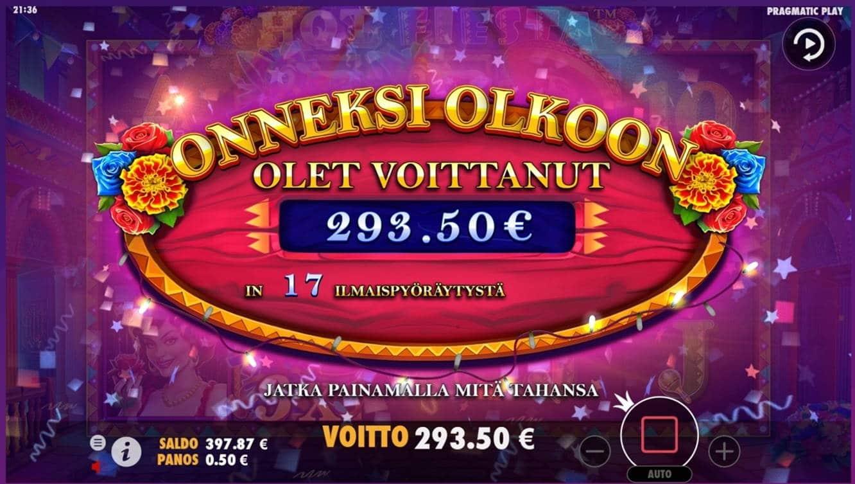 Hot Fiesta Casino win picture by dj_niemi 12.8.2021 293.50e 587X