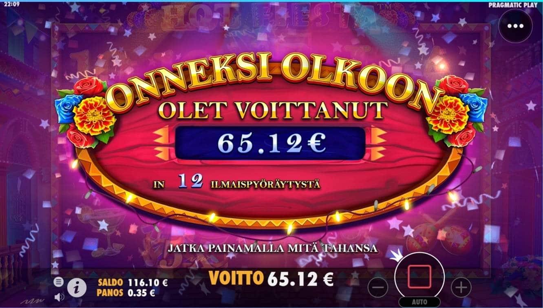 Hot Fiesta Casino win picture by dj_niemi 19.8.2021 65.12e 186X