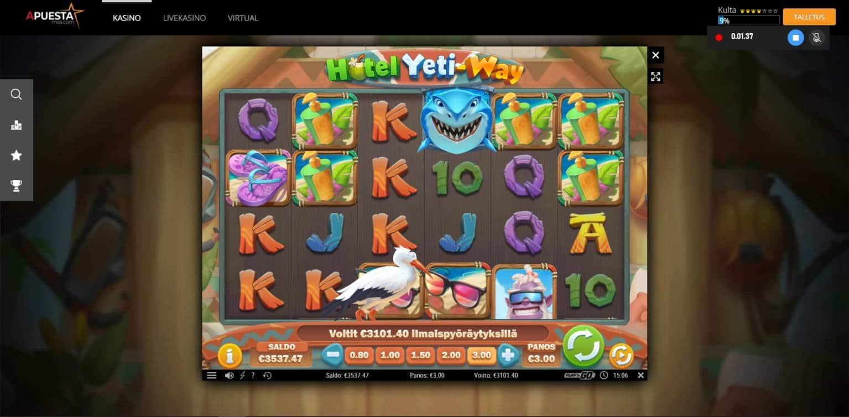 Hotel Yeti-Way Casino win picture by jube 9.8.2021 3101.40e 1034X APuesta