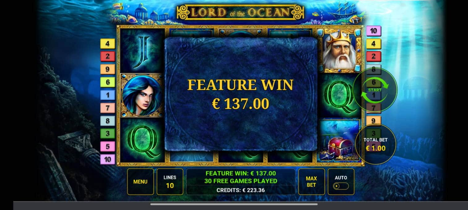 Lord of the Ocean Casino win picture by tiikerililja87 25.7.2021 137e 137X