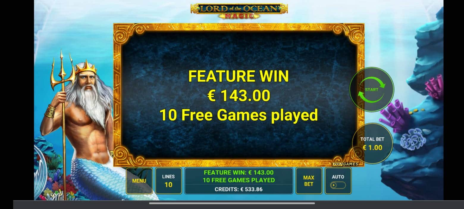 Lord of the Ocean Magic Casino win picture by tiikerililja87 25.7.2021 143e 143X