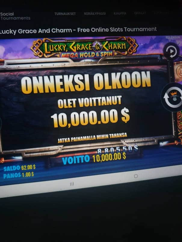 Lucky Grace & Charm Casino win picture by MTDManz 10.8.2021 10000d 10000X