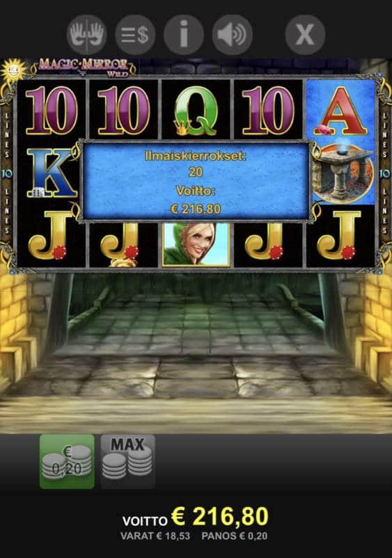 Magic Mirror Wild Casino win picture by leif991 30.7.2021 216.80e 1084X