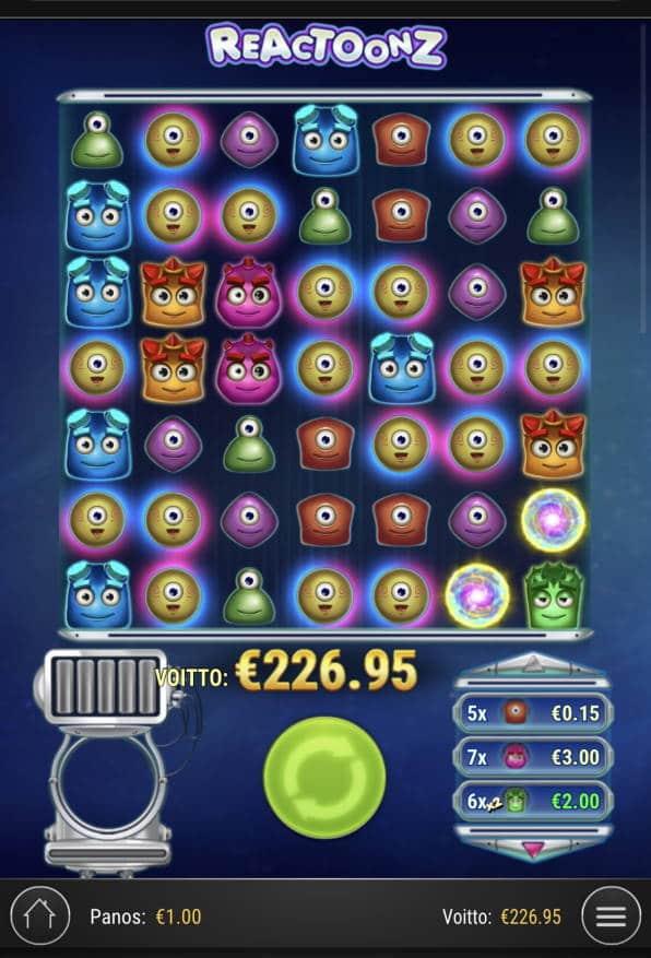 Rectoonz Casino win picture by Sonefinland 25.7.2021 226.95e 227X