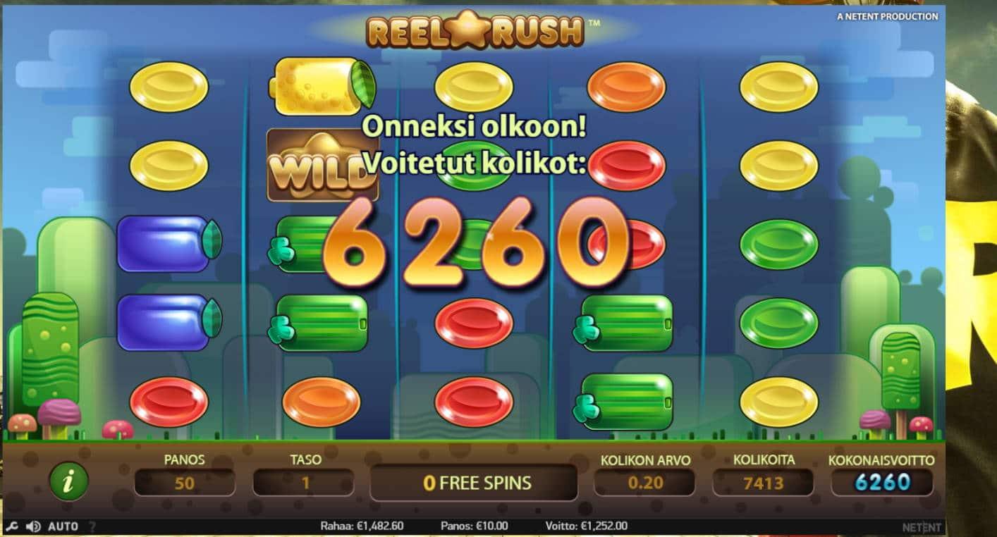 Reel Rush Casino win picture by kalmakoura666 3.8.2021 1252e 125X