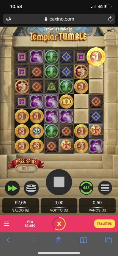 Templar Tumble Casino win picture by [ICA] Brotherhood (Wilho) 4.8.2021 522e 1044X Caxino