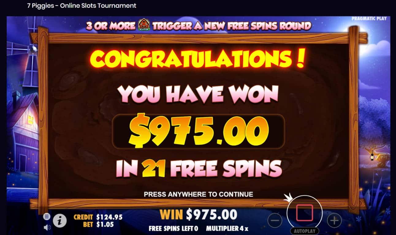 7 Piggies Casino win picture by Banhamm 25.8.2021 975e 929X
