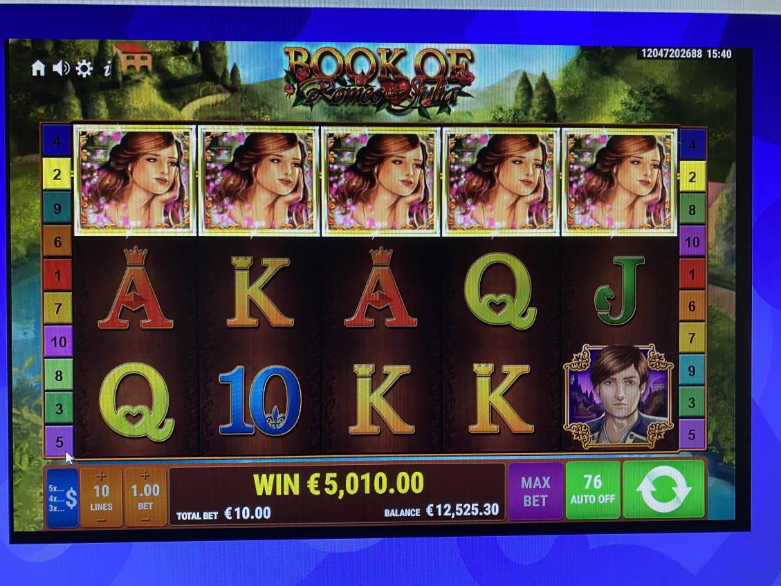 Book of Romeo & Julia Casino win picture by jarttu84 24.8.2021 5010e 501X