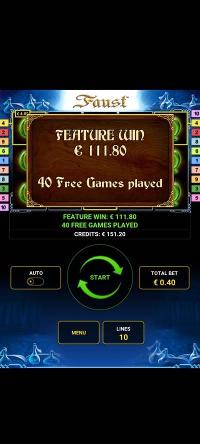 Faust Casino win picture by dj_niemi 24.8.2021 111.80e 280X