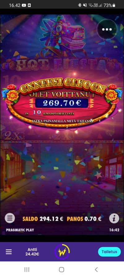 Hot Fiesta Casino win picture by dj_niemi 6.9.2021 269.70e 385X