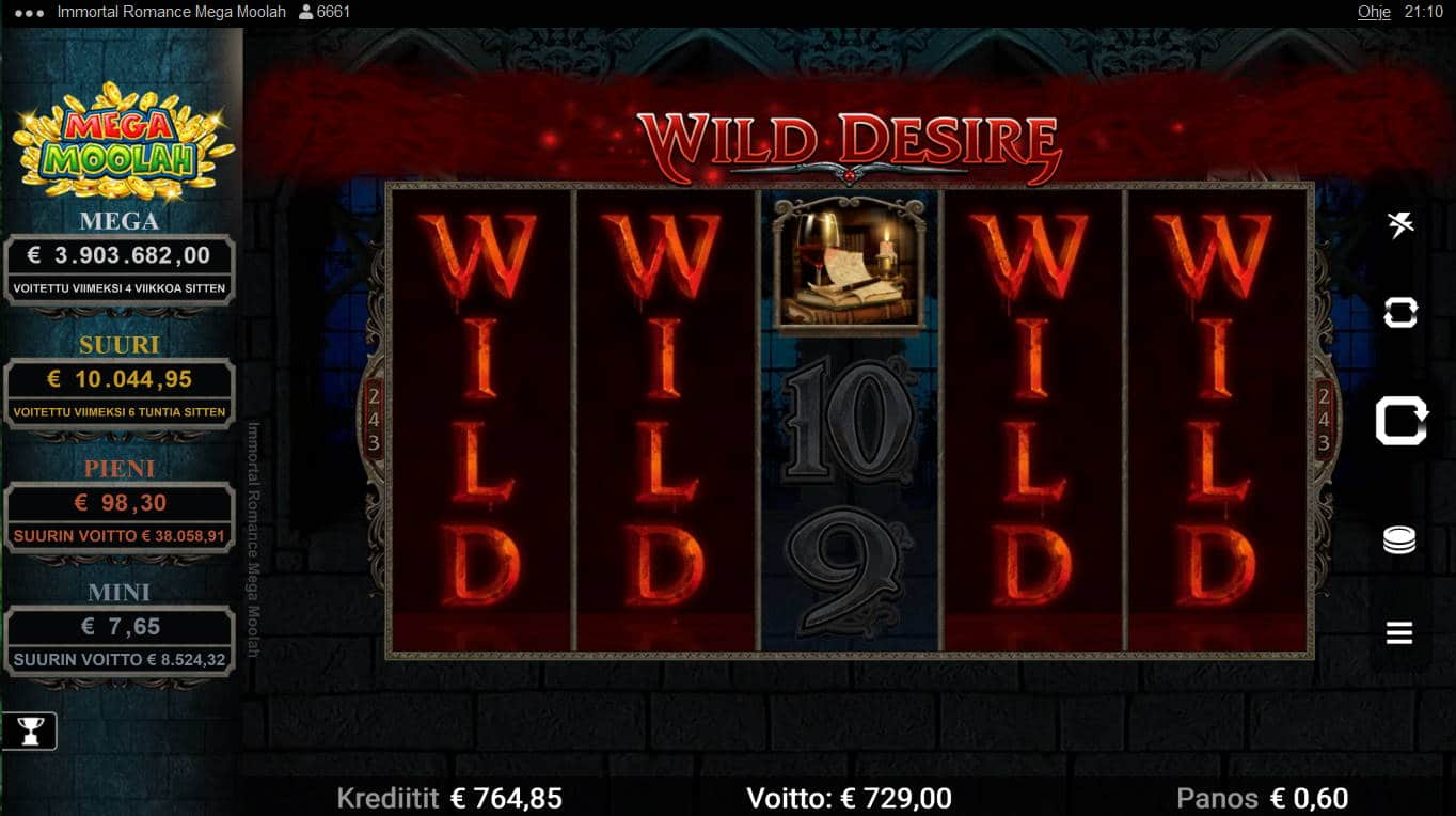 Immortal Romance Mega Moolah Casino win picture by Kari Grandi 5.9.2021 729e 1215X