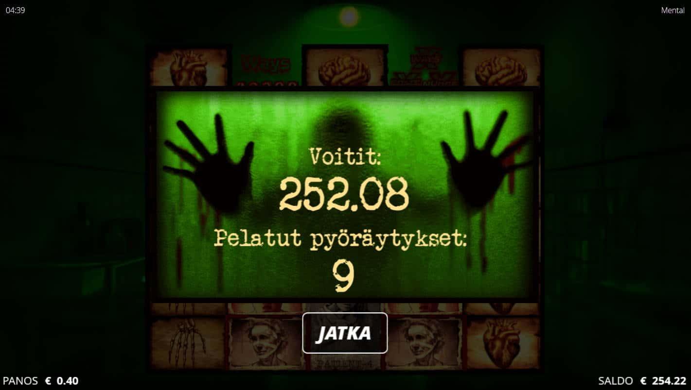Mental Casino win picture by Kari Grandi 1.9.2021 252.08e 630X