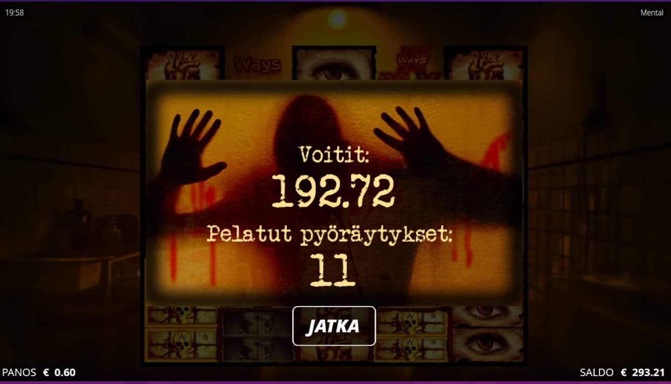 Mental Casino win picture by Kari Grandi 3.9.2021 192.72e 321X