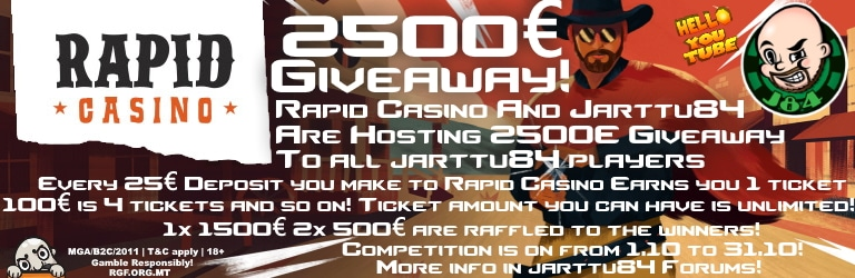 2500€ giveaway at rapid casino