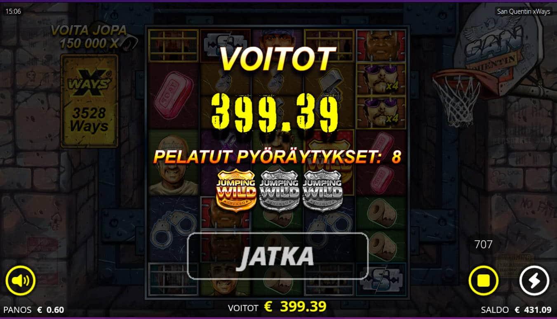 San Quentin xWays Casino win picture by Kari Grandi 24.8.2021 399.39e 666X